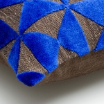 Samtkissen Blau – Braun