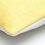 Dekokissen gelb grau