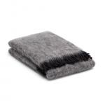 Mohair Decke Grau