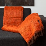 Mohair plaid Orange – Braun