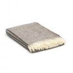 Wolldecke Grau creme Übergröße – Fischgrätenmuster