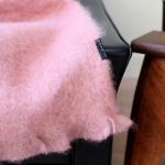 Mohair Decke Rosa – Kuscheldecke