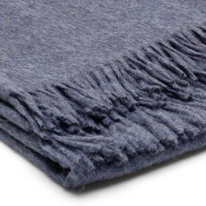 Alpake Decke Jeans Blau