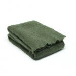 Grüne Wolldecke aus Mohair