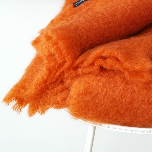 Mohair Decke Orange